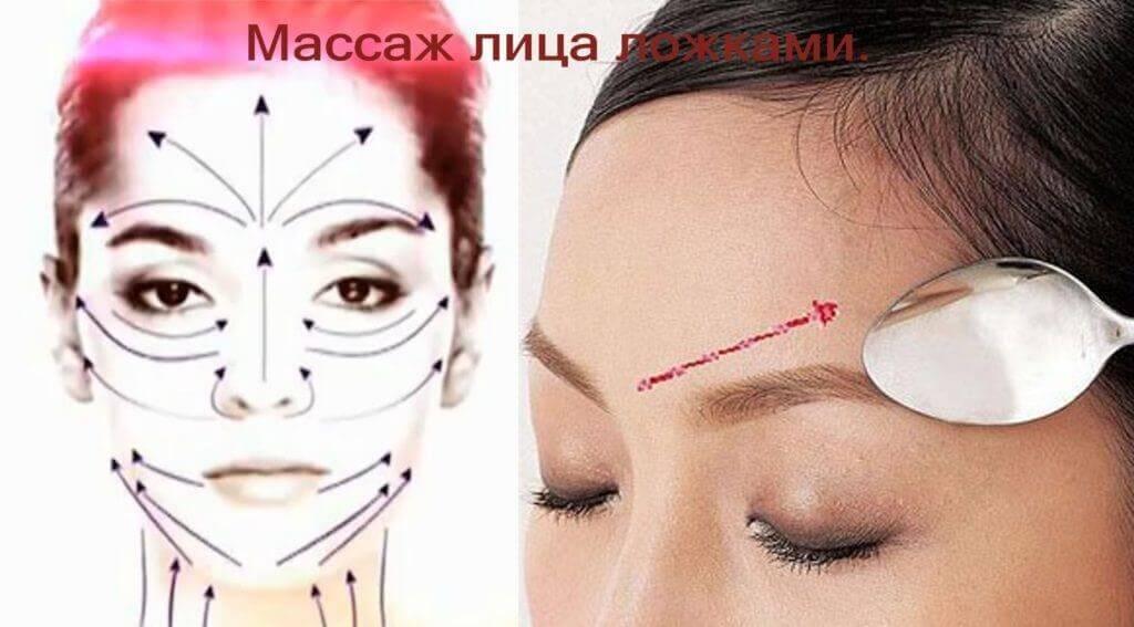 массаж лица ложками