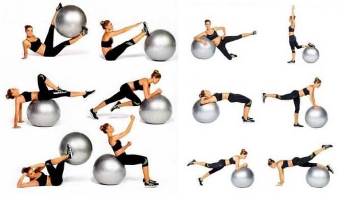 фитбол упражнения от целлюлита