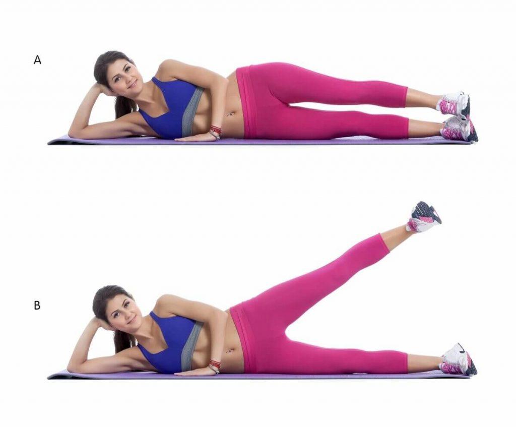 упражнения для ягодиц махи ногами