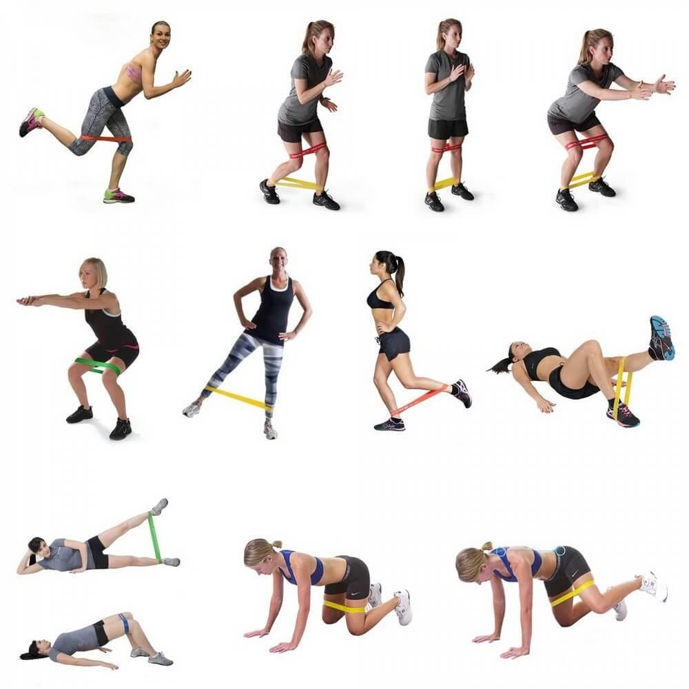 упражнения с резинкой от целлюлита и для похудения