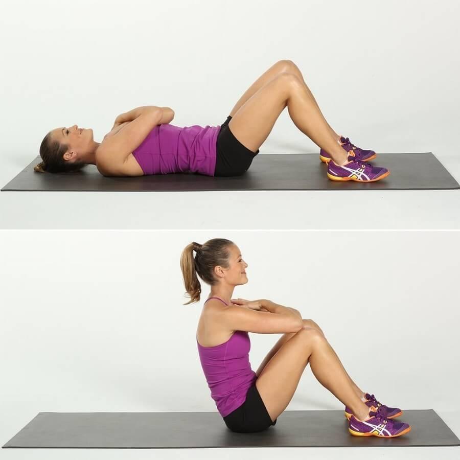 подъе корпуса упражнение для талии и живота